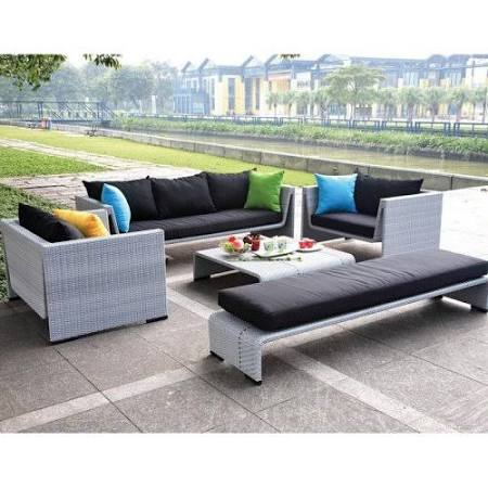 Modern Tosh Furniture Gray Sofa Set