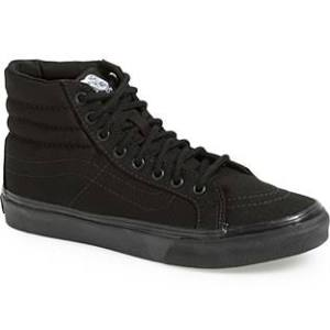 Women's Vans 'Sk8-Hi Slim' Sneaker Black