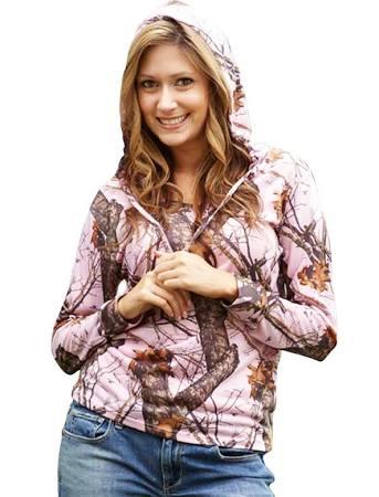 Mossy Oak Hoodies - Pink Camo For Women