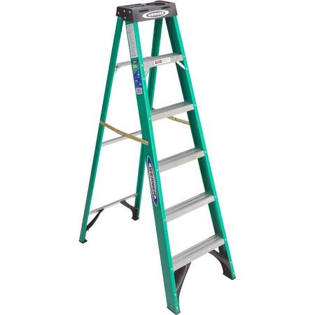 Werner 6 ft. Fiberglass Step Ladder with 225 lb. Load Capacity Type II Duty Rating - $49.96 w/ InSto online deal