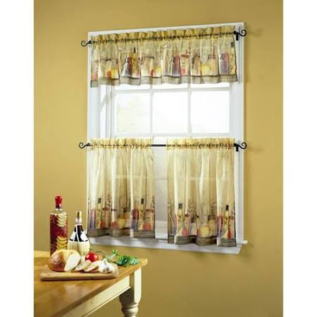 Tuscany Sheer Printed Kitchen Tier Curtain