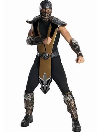 Deluxe Mens Mortal Kombat Scorpion Costume