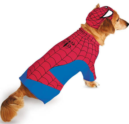 Pet Costume Spiderman Large