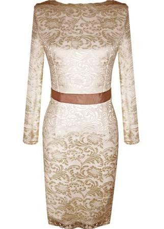 Bridal party dress Elegant Slimming Champagne
