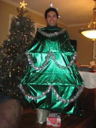 Homemade Adult Christmas Tree Costume
