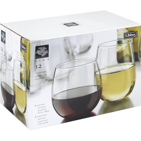 Libbey Vina Goblets Stemless Wine - 12