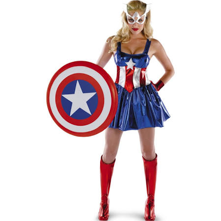 Marvel Captain America Deluxe Adult Womens