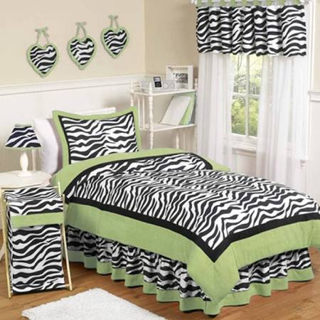 Green Zebra Full/Queen Bedding Set