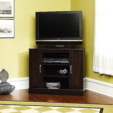 Sauder 408787 Cherry Corner TV Stand with