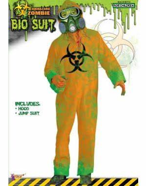 Childs 1-Size Biohazard Zombie First Responder