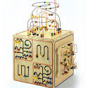 Wooden Activity Cube by Anatex