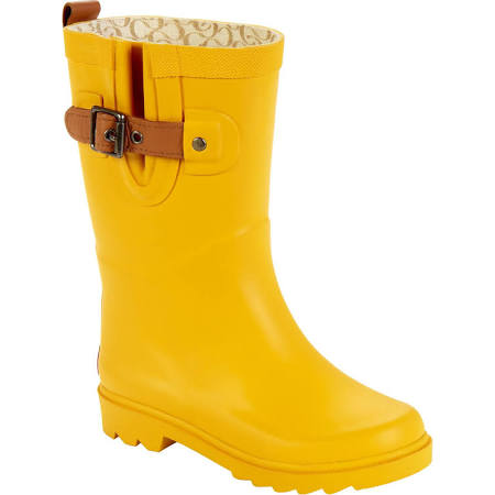 chooka girl's rain boot top solid jr yellow