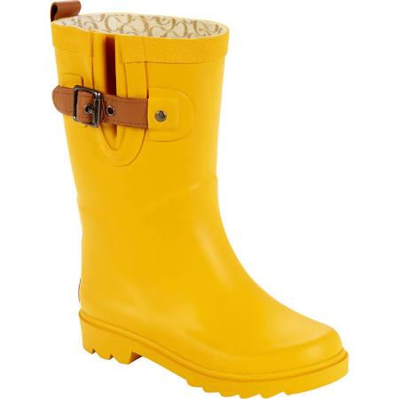 chooka girl's rain boot top solid jr yellow