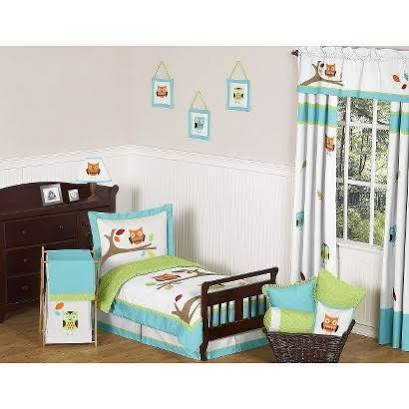 Hooty Owl 5 Piece Toddler Bedding Set