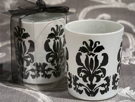 Cassiani Classic Damask Design Votive