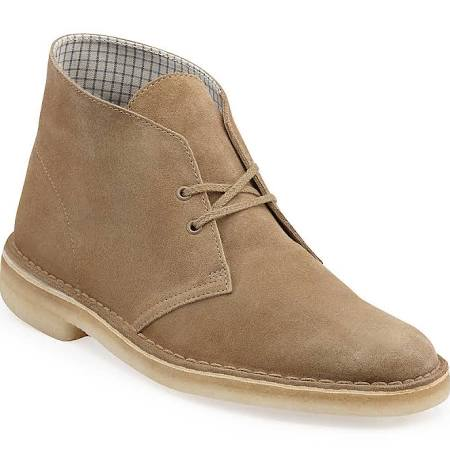 Clarks Mens Desert Boot Tan Suede