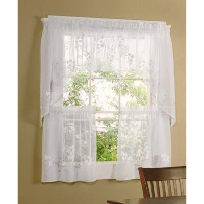 Hydrangea Kitchen Window Tiers - 36