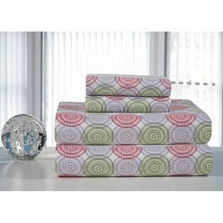 Starburst Printed Flannel Sheet Set (Flannel