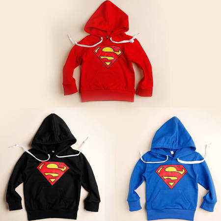 Retail Black Red Blue Superman Hoodie