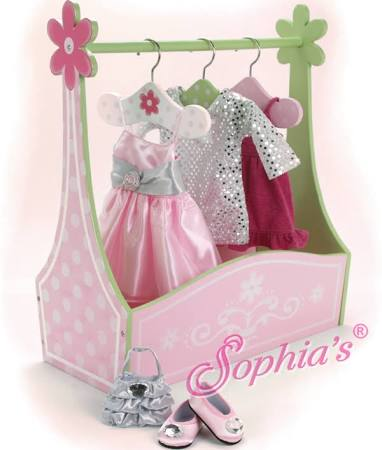 Sophia's Hand Painted Wooden Dress Rack
