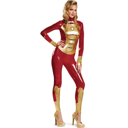 Sexy Iron Man 3 Female Adult Skin Suit