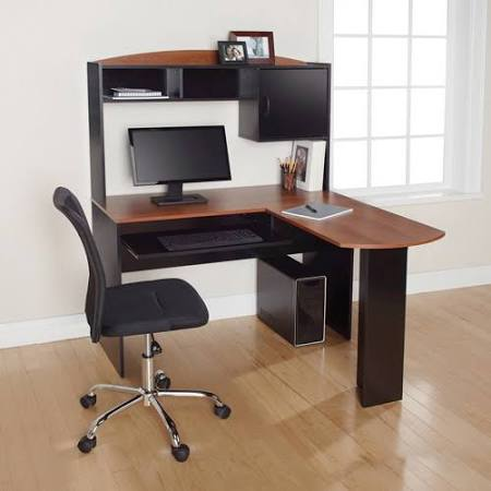 Mainstays L-Shaped Desk with Hutch and