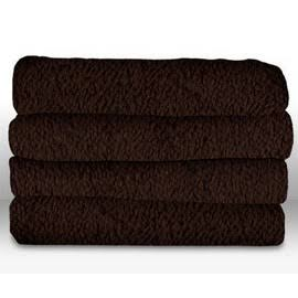 Sunbeam Heated Throw Blanket Walnut Color