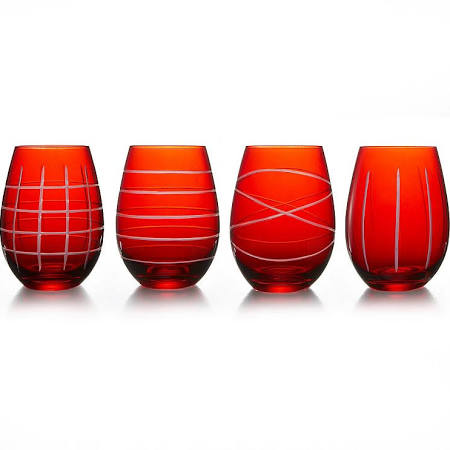 Fifth Avenue Crystal 4-pc. Stemless Wine