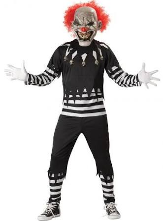 Creepy Clown Costume Size Large