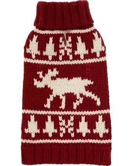 Fab Dog Burgundy Moose Dog Sweater
