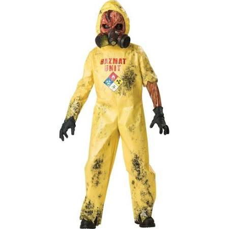 Hazmat Suit Costume Kids Scary Zombie