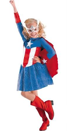 sears girls captain america daughter halloween