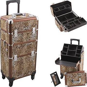 Leopard Pro 4-Wheel Makeup Case