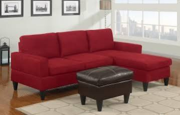 Poundex F7286 Bobkona Red Microfiber Sectional