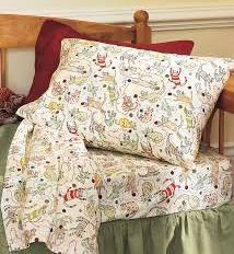 Twin Playful Cat Flannel Sheet Set