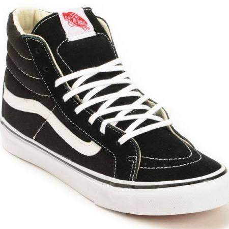 Vans SK8 Hi Slim Black True White Shoes