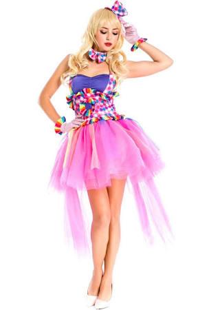 Fuchsia Circus Clown Cutie Costume