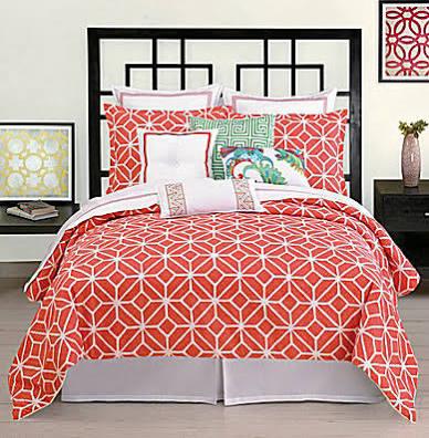 Trina Turk Trellis Coral King Comforter