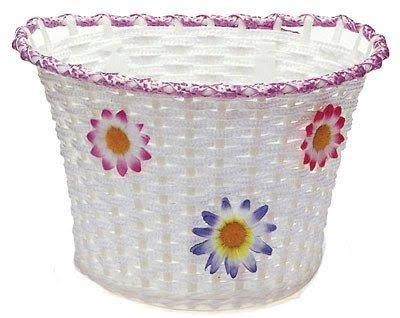 Sunlite Classic Flower Bike Basket - White, Small