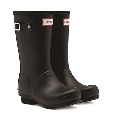 Hunter Original Kids Black Wellington Boots