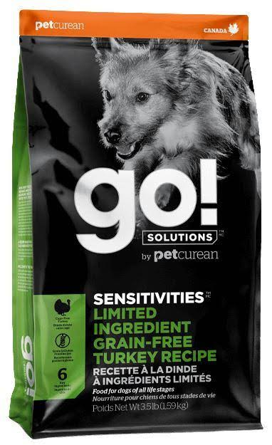Go! Solutions Sensitivities Limited Ingredient Turkey Recipe Dry Dog Food, 3.5-lb