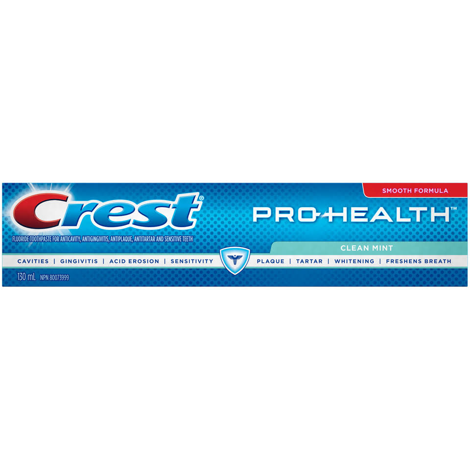 Crest Pro-Health Clean Mint Toothpaste 130 mL Box