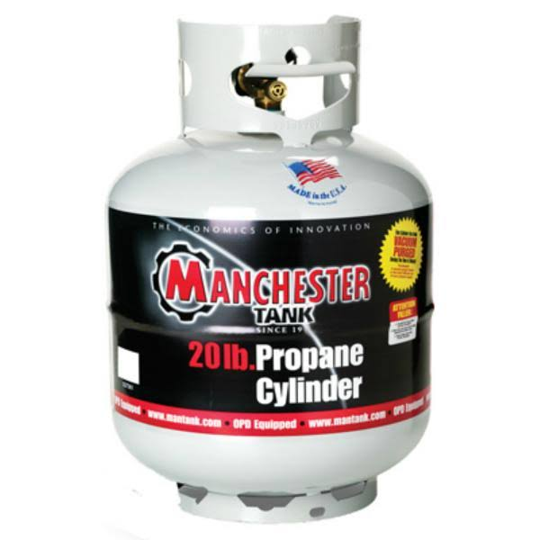 Manchester Tank Propane Cylinder, Gray, 20 lbs