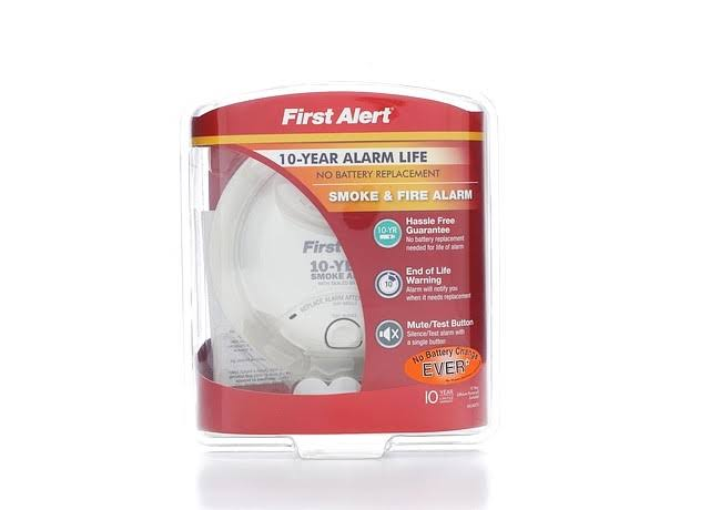 First Alert Battery Operated 10-Year Lithium Sealed Smoke Alarm