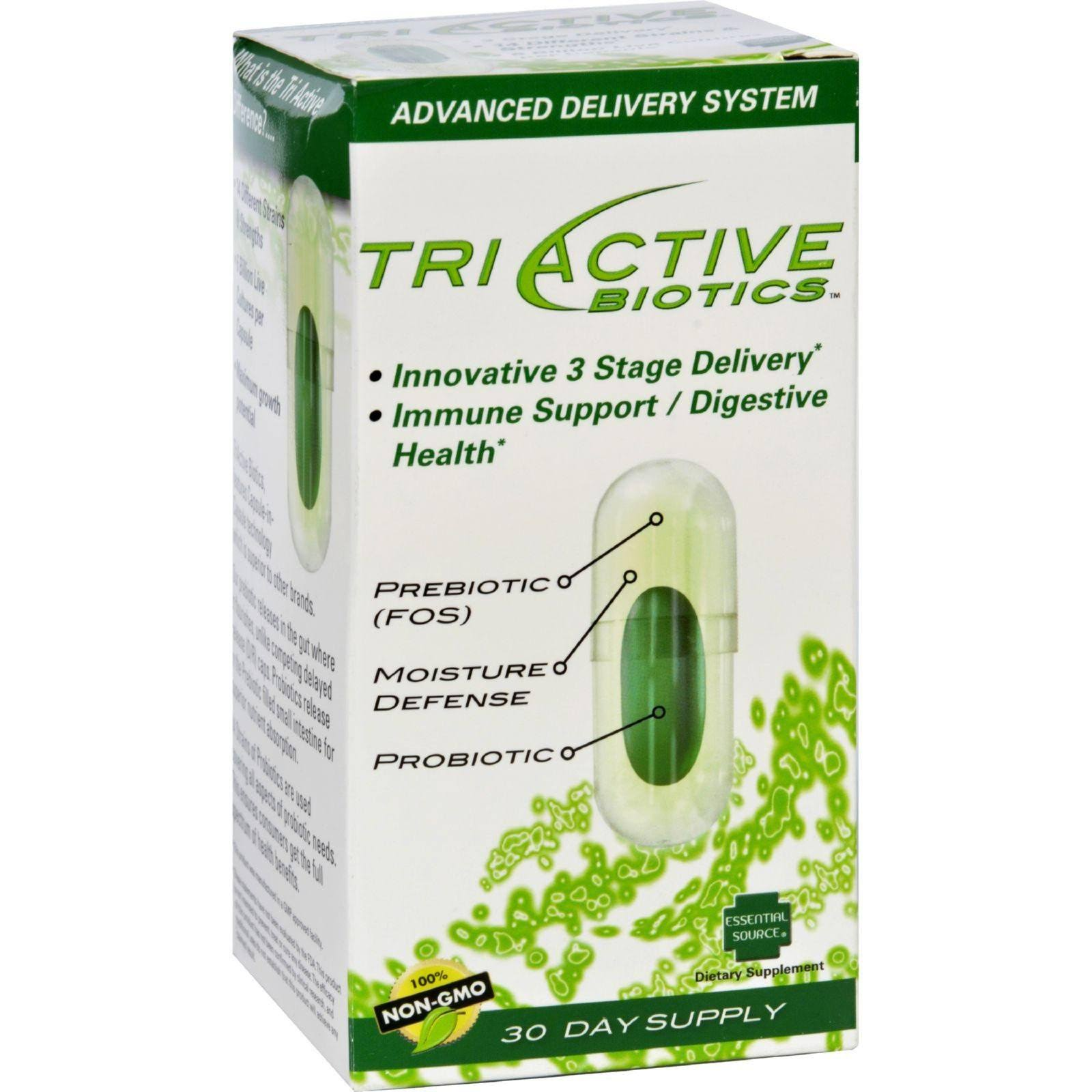 Essential Source Tri Active Biotics Supplement - 30 Capsules
