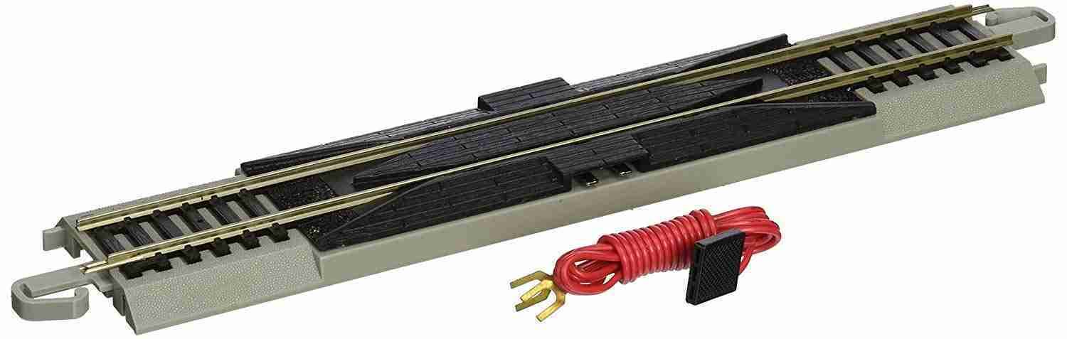 Bachmann Trains Snap-Fit E-Z Track Straight Terminal Rerailer with Wire - 9""