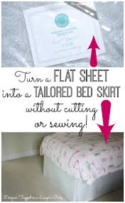 Dorm Room Bed Skirts by No Sew Bedskirt Tutorial Mind Blowingly Simple Designer Trapped