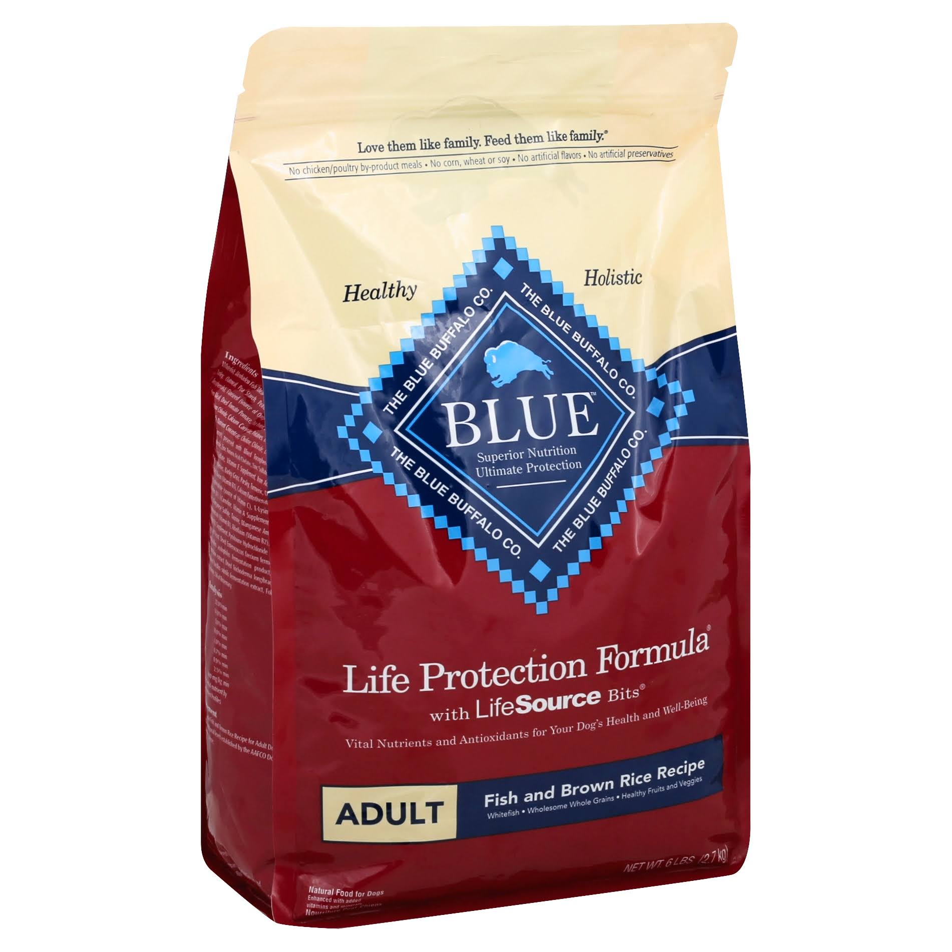 Blue Buffalo Life Protection Dry Adult Dog Food - Fish and Sweet Potato Recipe, 6lb