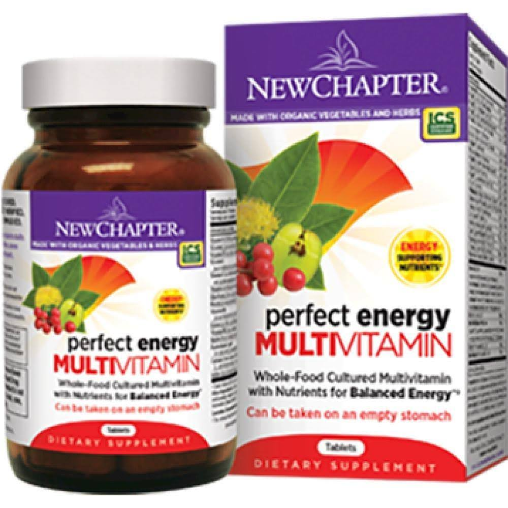 New Chapter Perfect Energy Multivitamin Supplement - 72 Tablets