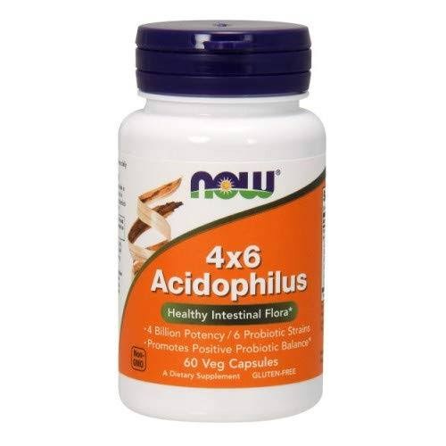 Now Foods 4x6 Acidophilus Healthy Intestine Flora - 60 Veg Capsules